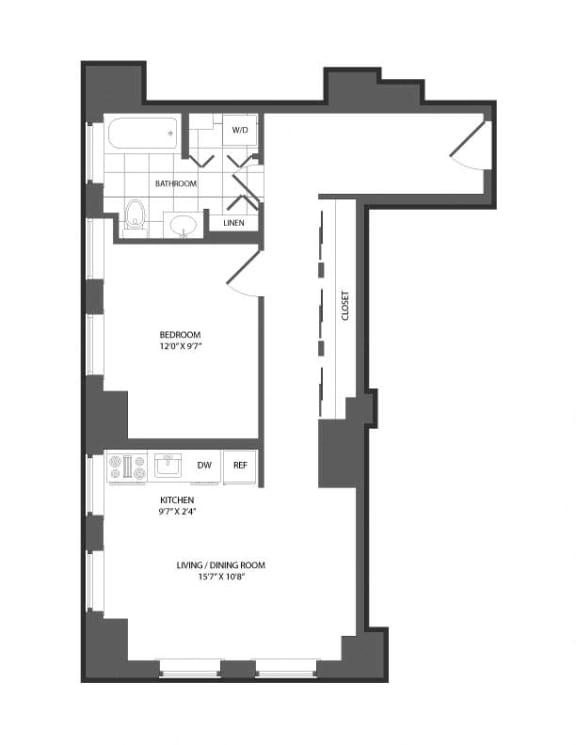 Floor plan at The Republic, Philadelphia, 19103