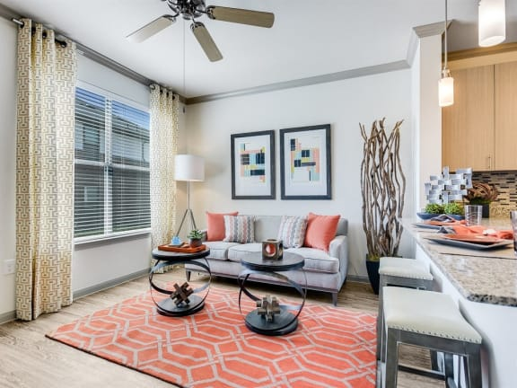 Modern Living Room at The Emerson, Pflugerville, 78660