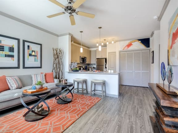 Model Living-Kitchen at The Emerson, Pflugerville, TX, 78660