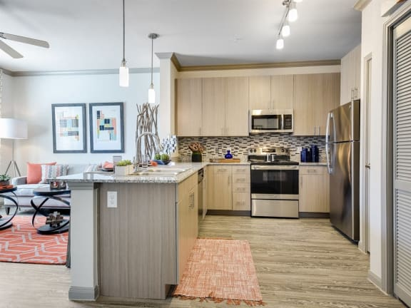 Model Kitchen at The Emerson, Pflugerville, Texas