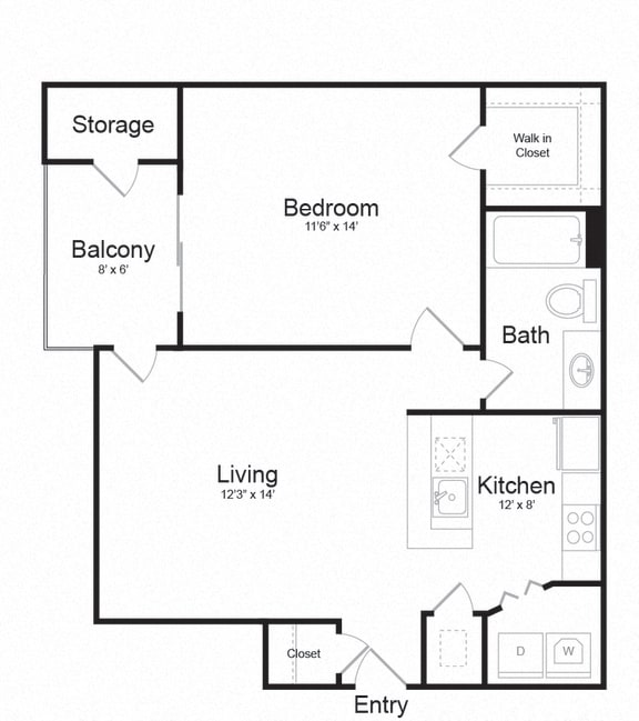 Floor Plan  Floor plan at Lakeside Mill, Owings Mill, MD, 21117