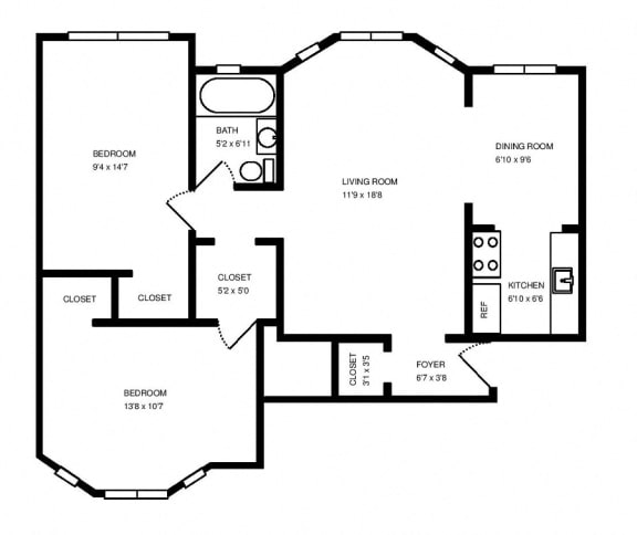 Two bedroom apartment home at 1033 W Loyola