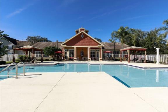 Pool, Sundeck and Cabanas