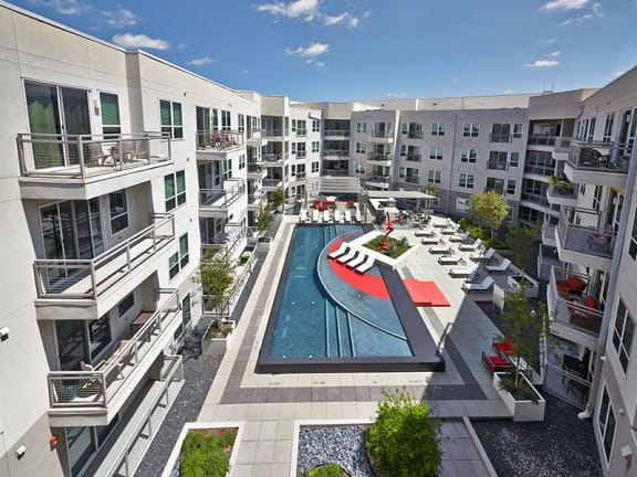 Patios and Balconies at Dallas Apartment Near LBJ Freeway