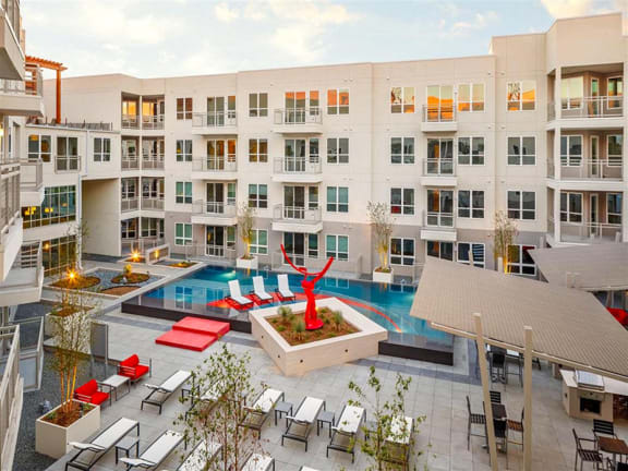 Resort-Style Swimming Pool at Dallas Apartment Near Uptown
