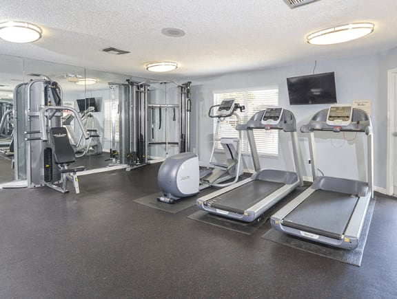 Cardio and Strength Training Equipment in the 24 Hour Fitness Center