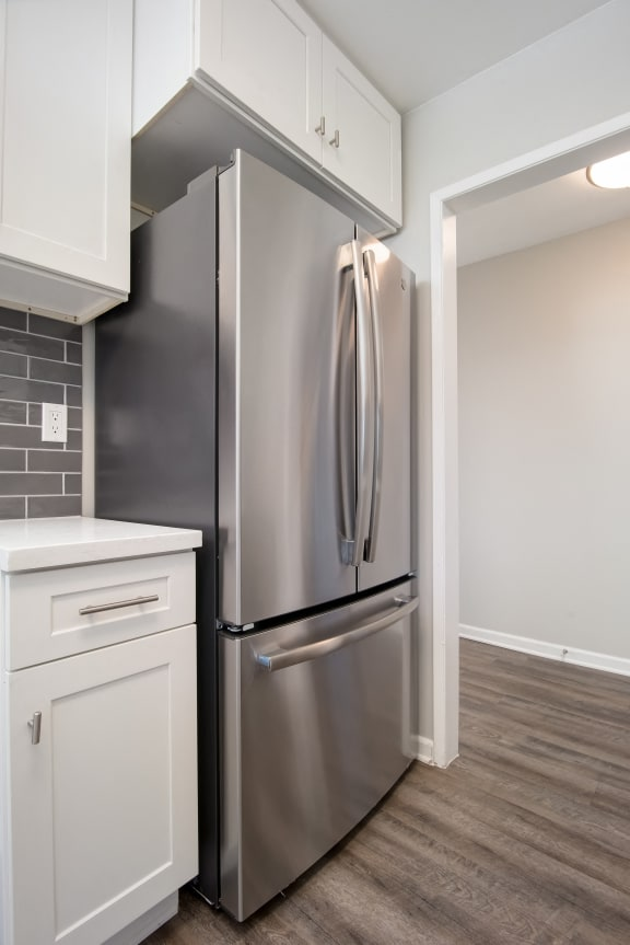 Fridge In Kitchen at Parc at 5 Apartments, Downey, CA
