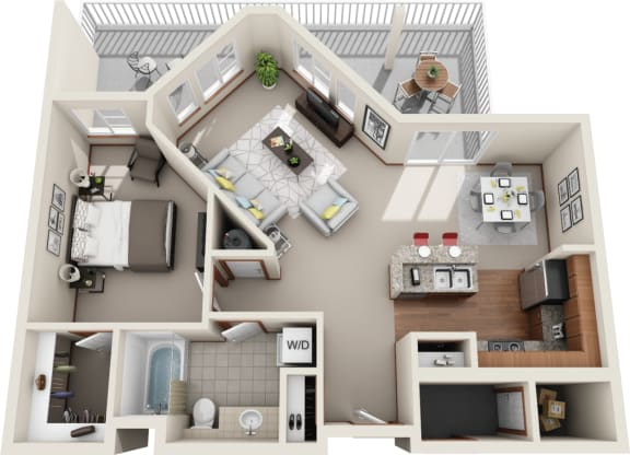 Floor Plan  One Bedroom | One Bathroom