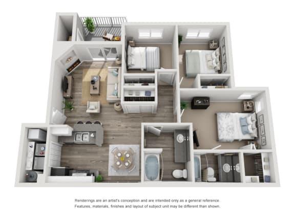 Floor Plan  Three Bedroom   Two Bathroom