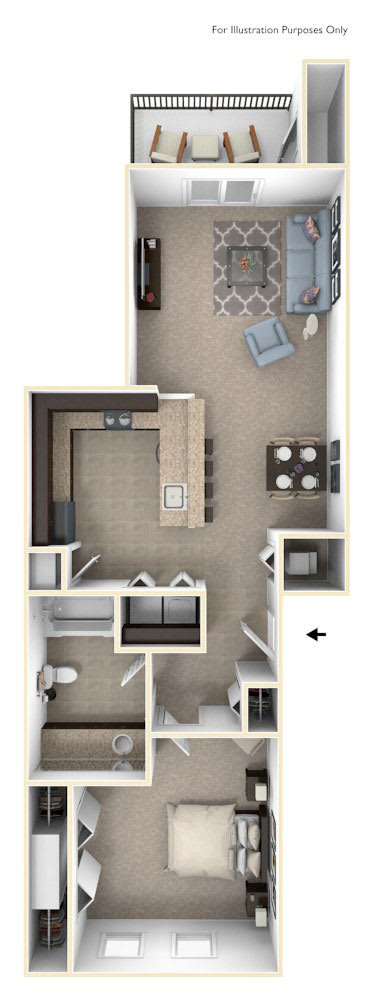 One Bedroom at Strathmore Apartment Homes in West Des Moines, IA