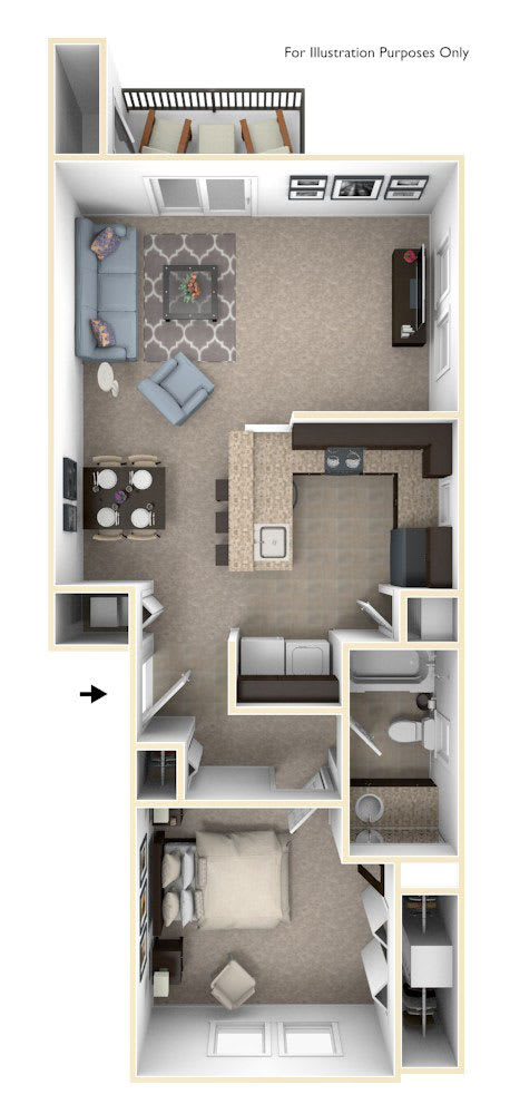 One Bedroom End at Strathmore Apartment Homes in West Des Moines, IA