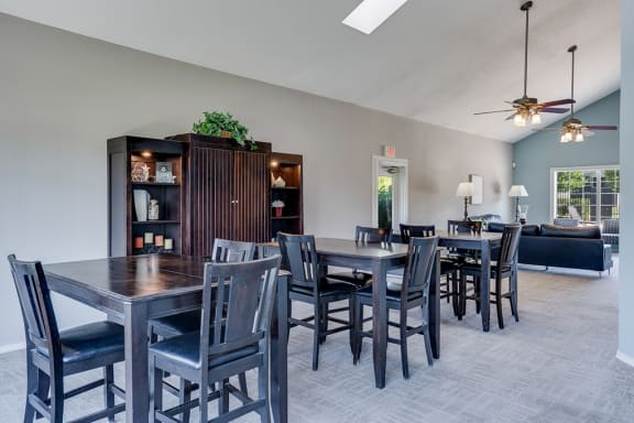Clubhouse with Dining Tables