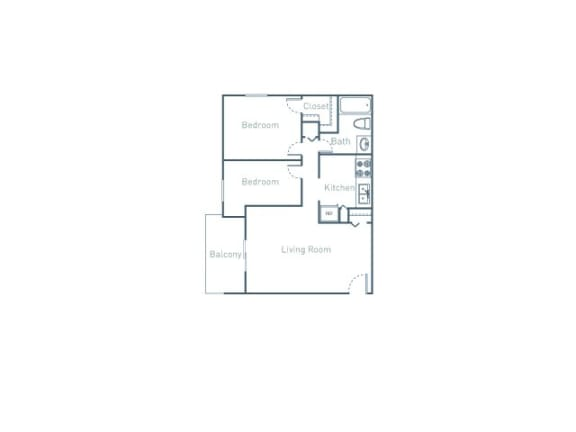 B1 Floor Plan at The Pointe at Midtown, Raleigh, NC