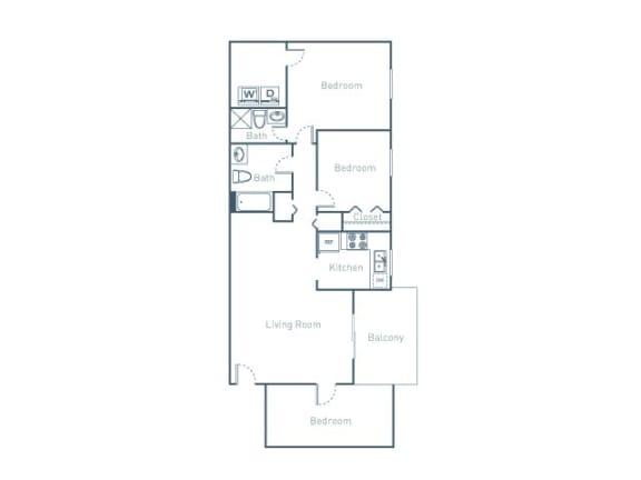 B3D Floor Plan at The Pointe at Midtown, Raleigh, North Carolina
