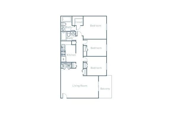 C1 Floor Plan at The Pointe at Midtown, North Carolina, 27609