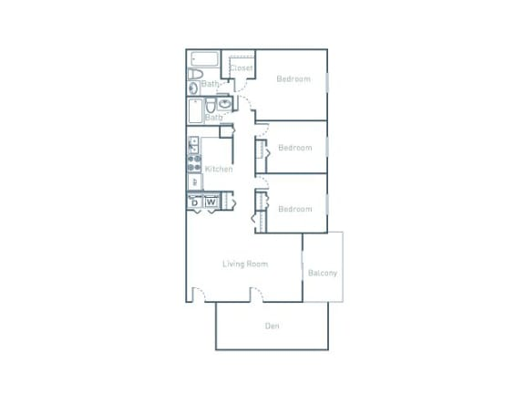 C2D Floor Plan at The Pointe at Midtown, Raleigh, NC, 27609
