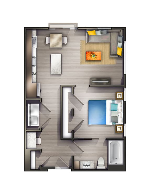 A2 Floor Plan at Peyton Stakes, Nashville, TN