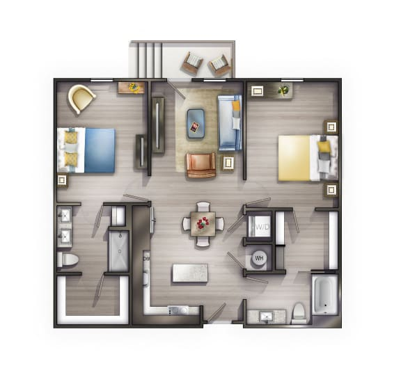 B1 Floor Plan at Peyton Stakes, Nashville, 37208