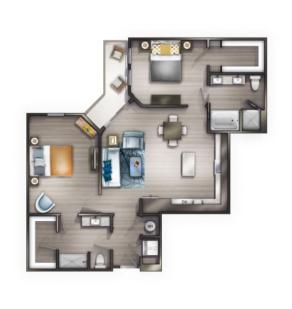 B4 Floor Plan at Peyton Stakes, Tennessee