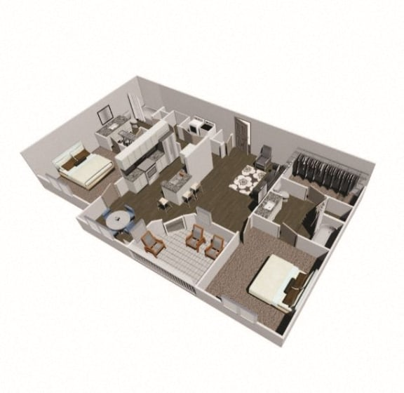 Floor Plan  Axis West two bedroom floor plan