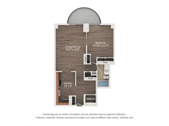 Floor Plan  1 Bedroom 09