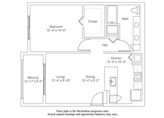 Floor plan at Mirador at Doral by Windsor, Florida