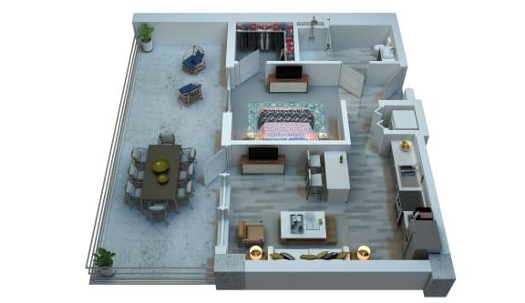 The Stewart Studio Floor Plan - Santana