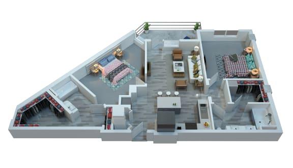 The Stewart Two Bedroom Floor Plan -  Marvin