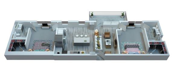 Floor Plan  The Stewart Two Bedroom Floor Plan - Jagger