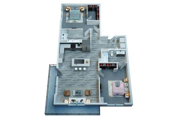 Floor Plan  The Stewart Two Bedroom Floor Plan
