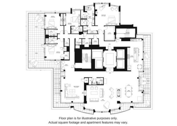 Floor Plan  Floor plan at The Bravern, Bellevue, WA, 98004