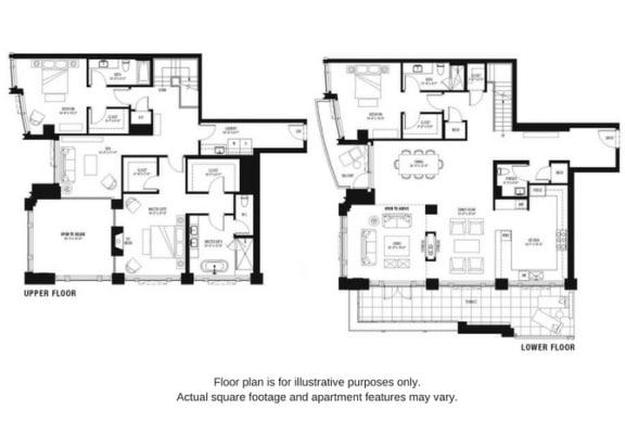 Floor Plan  Floor plan at The Bravern, Washington