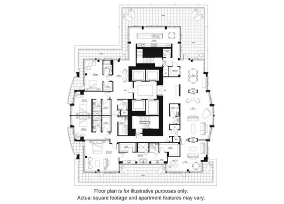 Floor Plan  Floor plan at The Bravern, Bellevue, Washington