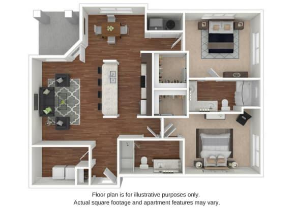 B6 Floor Plan at Retreat at the Flatirons