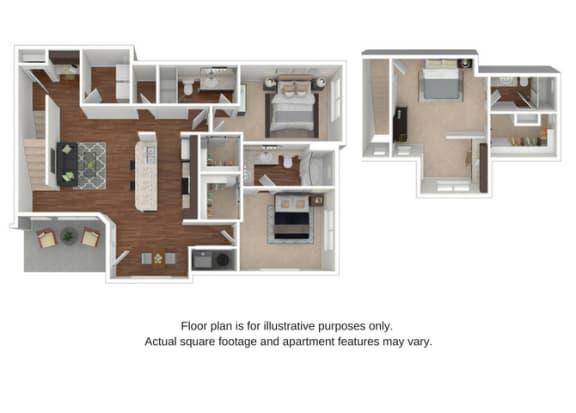 C1 Floor Plan at Retreat at the Flatirons