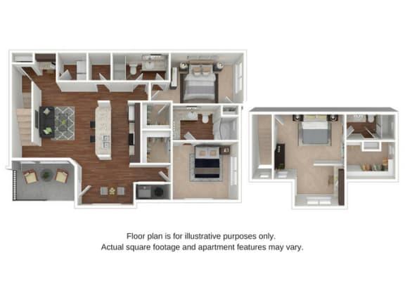 C2 Floor Plan at Retreat at the Flatirons