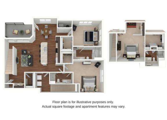 C3 Floor Plan at Retreat at the Flatirons
