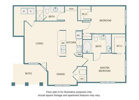 Floor plan at Retreat at the Flatirons, Broomfield