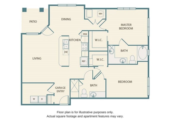 Floor plan at Retreat at the Flatirons, Broomfield, CO, 80020