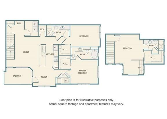Floor plan at Retreat at the Flatirons, Broomfield, 80020