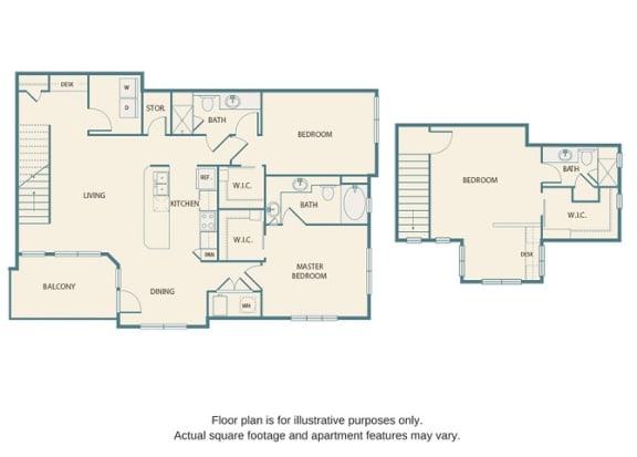 Floor plan at Retreat at the Flatirons, Broomfield, Colorado
