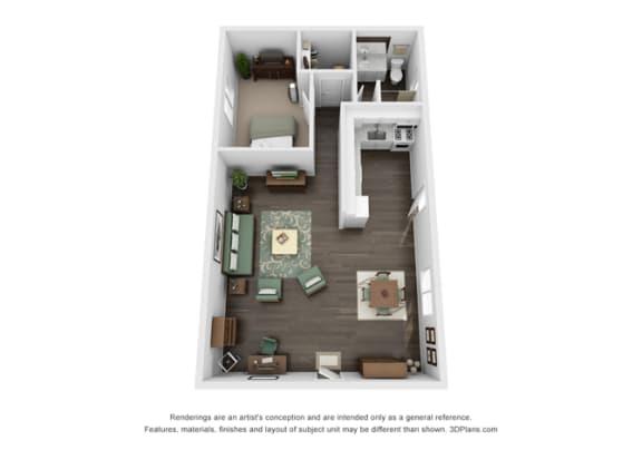 Floor Plan  Floor plan at Marine View Apartments, San Pedro, California