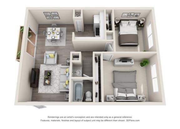 Floor Plan  Floor plan at Ocean Breeze Villas, Huntington Beach