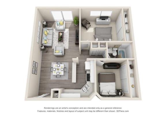Floor Plan  Floor plan at Ocean Breeze Villas, California