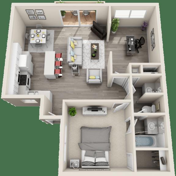 Floor Plan  Floor plan at Ocean Breeze Villas, Huntington Beach, CA