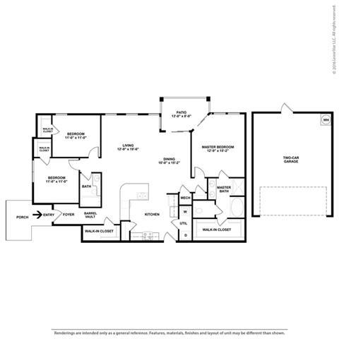 Floor Plan at Orion McCord Park, Little Elm, Texas