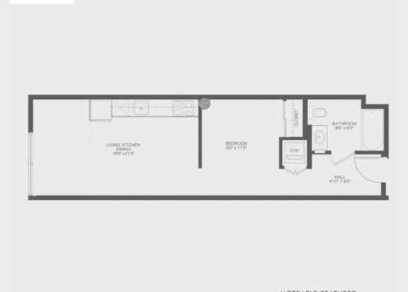 Floor Plan  Transom Studio Floor Plan at The Gantry, San Francisco, CA, 94107
