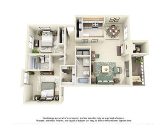 Floor Plan  San Juan Renovated Floor Plan at StonePointe, Washington, 98466