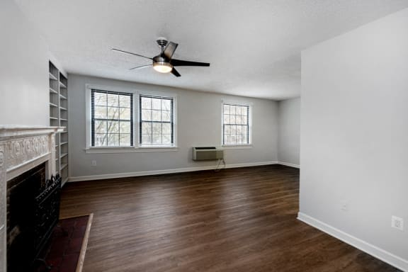 Renovated 1 bedroom with granite fireplace at Connecticut Plaza in DC