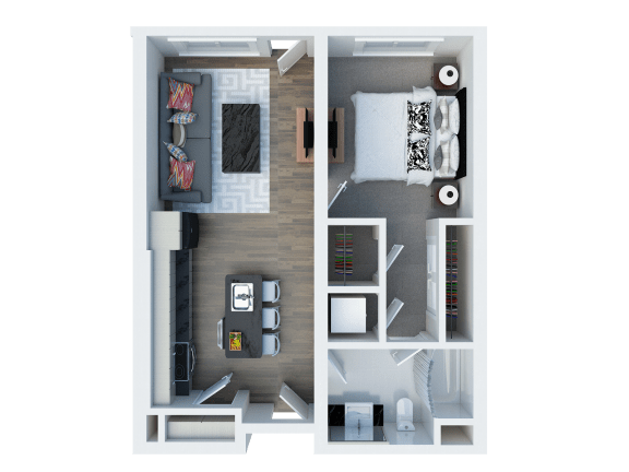 A1 Floor Plan  Coliseum Connection Apartments in Oakland, CA